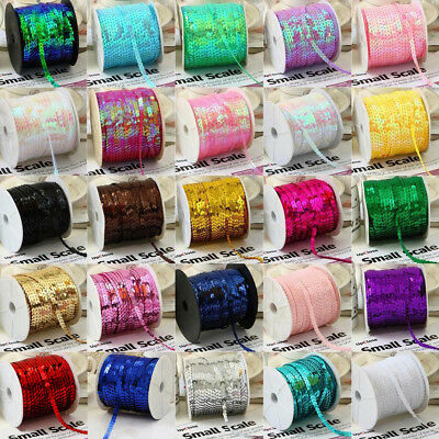 5 Yards 6mm Faceted loose sequins Paillettes Clothes sewing Wedding DIY Craft