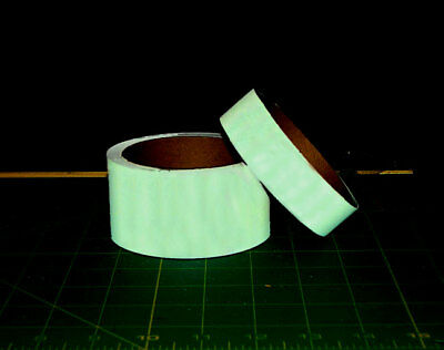 "Glow in the Dark/Photoluminescent Tape, 12 pieces, 1"" x 5"" long"