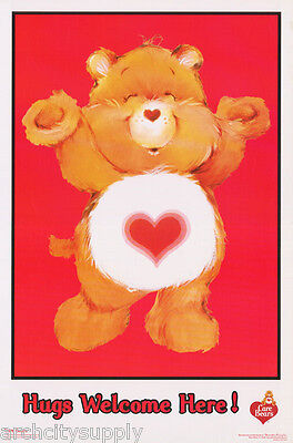 Poster :children's: Care Bears - Hugs Welcome Here - Flocked -  #fl3343F  Lp46 E