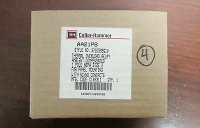CUTLER HAMMER WESTINGHOUSE AA21PB Size 2 Panel Mount Overload Relay 371D599G10
