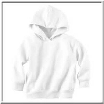 Rabbit Skins Toddler Pullover Hoodie - White - Size 5/6 - Brand New