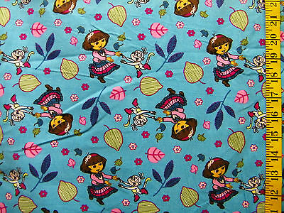 DORA EXPLORING FALL TOSS 100%  COTTON CORDUROY FABRIC BY THE 1/2 YARD