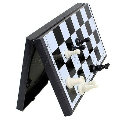 Mini Portable Book Style Fold Magnetic Chess  Set For Kids
