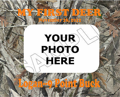 My First Deer Photo Frame Personalized Print Gift
