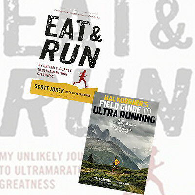 Ultra 2 Books Collection Set(Hal Koerner's Field Guide to Ultrarunning,Eat and R