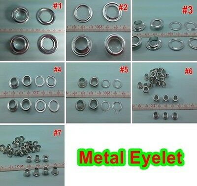 7-35 mm different size Silver Tone Eyelets Grommet craft work scrapbooking DIY