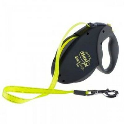 Flexi Neon Giant Retractable Dog Lead L Black Tape 8m