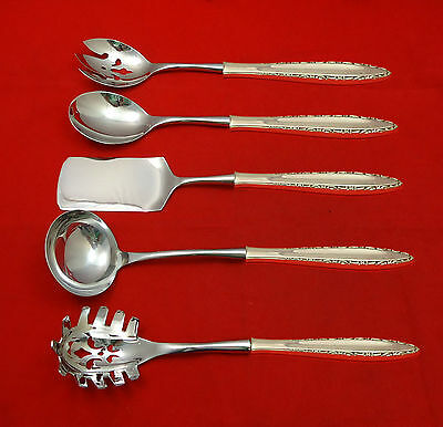 Bridal Bouquet by Alvin Sterling Silver Cheese Server HHWS  Custom Made 6