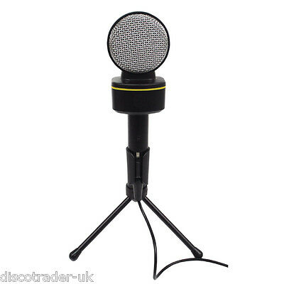 CONDENSER MICROPHONE 3.5mm STEREO JACK with STAND FOR PC or LAPTOP G158PCC