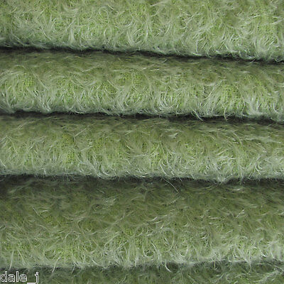 """1/3 yd 300S/CM Antq. Sage INTERCAL 1/2"""" Ultra-Sparse Curly Matted Mohair Fabric"""