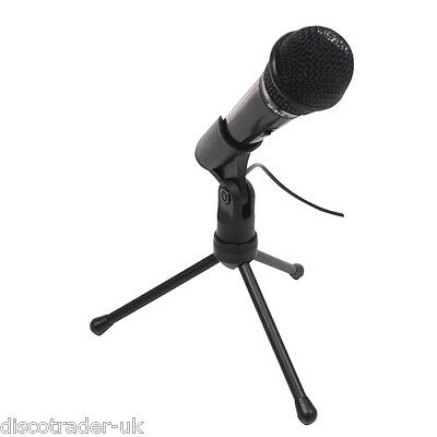 CONDENSER MICROPHONE USB CONNECTOR with TRIPOD STAND FOR PC or LAPTOP G158PC