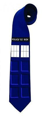 Doctor Dr Who Necktie Official BBC Licensed TARDIS Police Box Suit Tie NEW