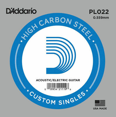 D'Addario PL022  single plain steel Electric / Acoustic Guitar string Gauge 22