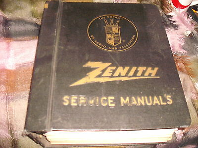 Zenith Service Manuals in a Zenith Radio and Television Binder, 1960's & 1970's*