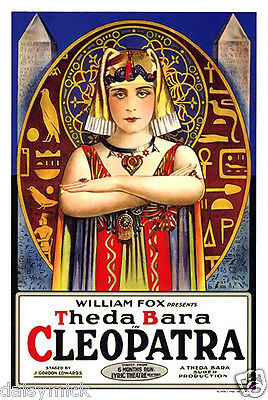 Cleopatra Theda Bara 1917 Silent Movie 12x8 Inch Reprint Poster