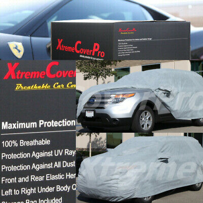 2015 FORD EXPLORER Breathable Car Cover w/Mirror Pockets - Gray