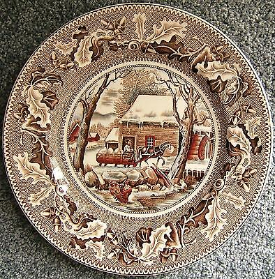 Thanksgiving Frozen Up Historic America Johnson Bros. Ceramic Plate Vintage