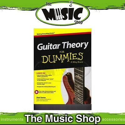 New Guitar Theory for Dummies Music Tuition Book with Online Audio Access