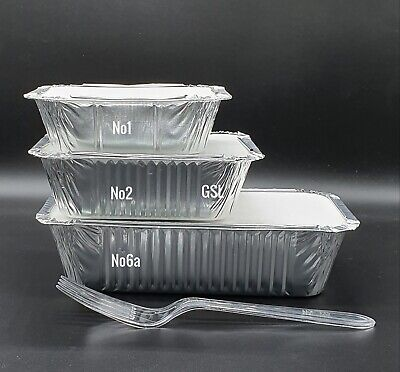 NEW - Aluminium Catering Foil Containers No1 No2 No6a - 10 25 50 100 - Takeaway