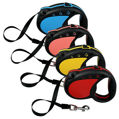 Retractable Pet Leash,New Fashion Paw Print Flexible Auto Lead,4 Colors
