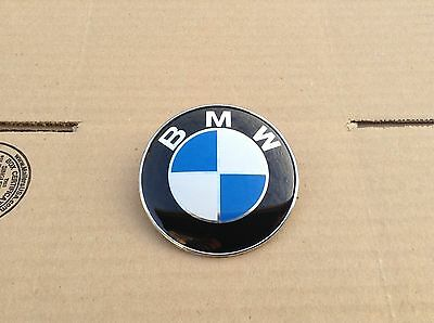BMW FRONT HOOD EMBLEM 82MM LOGO BADGE DECAL 2 PIN ROUNDEL 51148132375