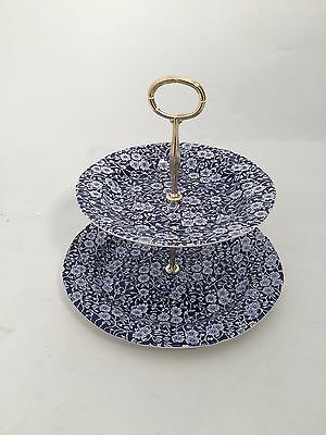 Calico 2 Tier Cake Stand (Large) by Burleigh - Burgess & Leigh