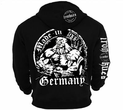 Ironkuza Kapuzenjacke 'Made In Germany' - Fitness Bodybuilding Hoody