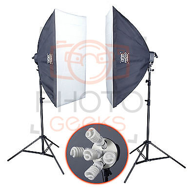 Softbox Studio Continuous Lighting Kit - 1500w - Photography Video Pro Photo Set