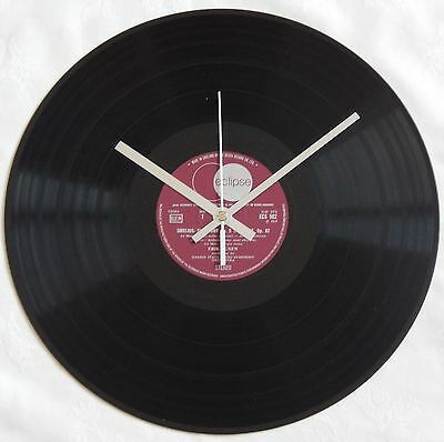 """12"""" Vinyl Record Wall Clock - Made to order, Unique Vintage Gift! - White Hands"""