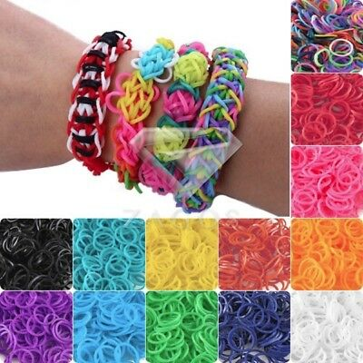 185-200pcs Refill Loom Rubber Bands With S Clips Loom Tool DIY Bracelet