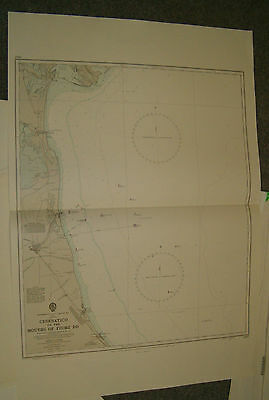 Vintage Admiralty Chart 1467 ITALY - CESENATICO to THE MOUTHS OF FIUME  1965 edn