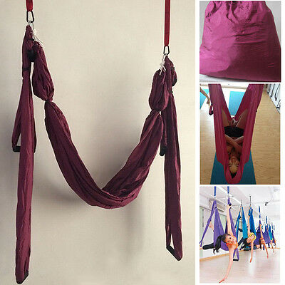 New Inversion Anti-Gravity Aerial Yoga Fitness Swing Hanging Hammock Purple