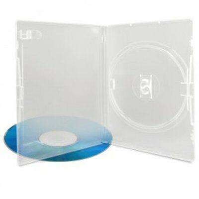 Boitiers DVD, 14 mm, Machine-pack-quality, Transparent (super clear), 100 pièces