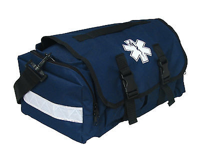 "First Responder Emt Paramedic On Call Trauma Bag W/ Reflectors- Navy 17""x7X10"""