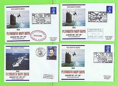 GB 1972 Collection of fourteen Plymouth Navy Days Commemorative Covers cachets
