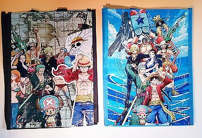 One Piece Japan Anime Manga Printed Tote Bag 2 Pieces Free Shipping Water Proof