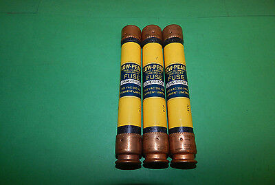 Lot of 3 Bussmann Low-Peak LPS-RK-17-1/2SP Fuses 17-1/2Amp 600VAC LPSRK171/2SP