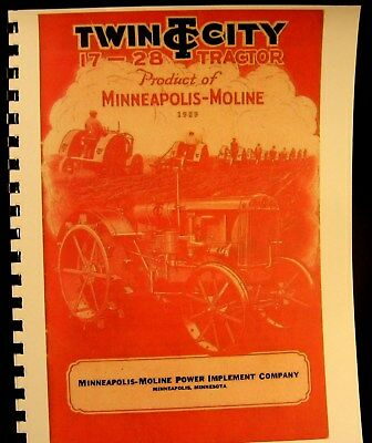 1929 Twin City 17 - 28 Tractor Complete Sales Information Manual Fully Illustrat