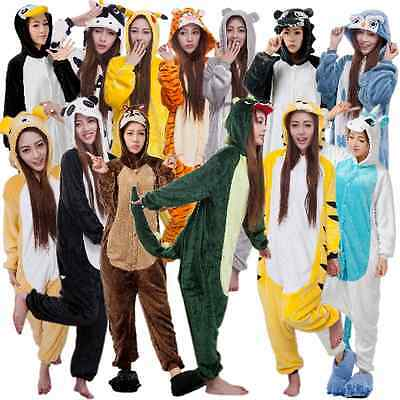 Unisex Animal Onesie Kigurumi Pajamas Costume Adult Cosplay Flannel Sleepwear