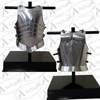 Medieval Knight Steel Body Armor Roman Muscle Plate Cuirass Leather Strap LARP