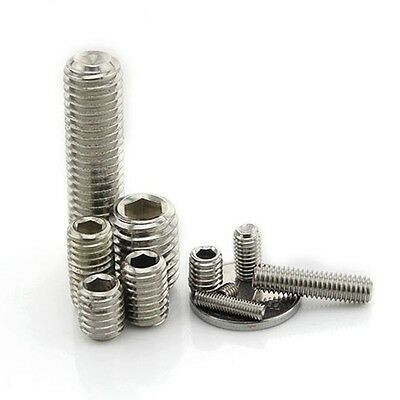 10PCS-50PCS Hex Socket Headless Screws M3-M12