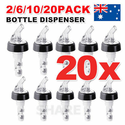OZ Liquor 30ml Shot Bottle Pourer Dispenser Spirit Nip Measure Wine Barware Tool
