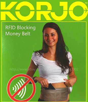 Korjo Travel RFID Blocking Money Belt Waist Bag -Safe, Comfy & Easy to Wear MBRF