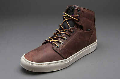 new mens sz vaNs otw alomar premium leather vn-0KX08HY boot brown off the wall