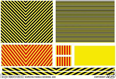 Wasp Stripes Warning Chevrons Panel Transfer Universal 4Mm / 7Mm Scale Lhp Hd900