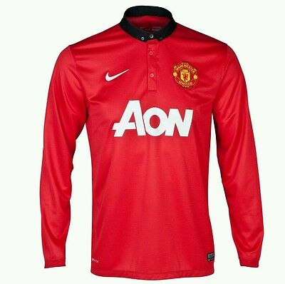 Nike  Manchester United 2013/14 Home Shirt  Adults M , L  100% Authentic