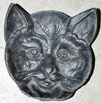 Black Cat Head Coin Dish Cast Iron Cabin Lodge Man Cave Home Garage Shop Decor