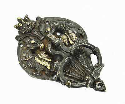 Vintage Reproduction big  Beautiful Brass Black Parrot Door Knocker HomeDecor