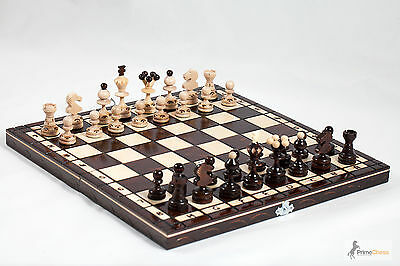 Brand New Hand Crafted Pearl Wooden Chess Set 35cm x 35cm