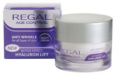 REGAL ANTI-WRINKLE NIGHT CREAM WITH BOTOX EFFECT AND HYALURON-45ml